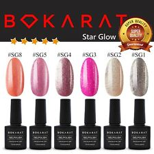 Gel Nail Polish Soak Off UV LED Star Glow Series Set 6 x 7.3 ml Bokarat