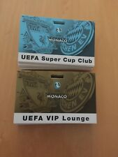 2 x VIP Passes 2001 European Super Cup Final Liverpool v Bayern Munich