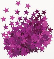 Sterne Konfetti Sternchen Streu Deko Metallic Pink Basteln Weihnachten 1 cm Ø