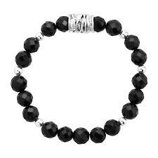 Silpada 'galaxy' Natural Black Onyx & Hematite Stretch Bracelet in Sterling