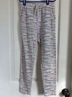 Tea Collection girls 8 multi color 100% cotton long pants CUTE!!