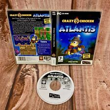 PC Spiel Crazy Chicken Atlantis laufen und springen Abenteuer PC CD-ROM 7+ Kids