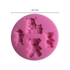 Moule silicone 3D Oursons pour pâte à sucre, cake design, décoration