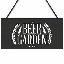 Beer Garden Sign Chic Style Hanging Plaque Pub Bar Alcohol Friend Man Cave Gift