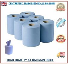 More details for centre feed rolls 6/12/24/48 2ply embossed kitchen paper towel bigger blue rolls