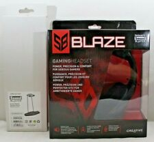 Creative Sound Blaster Blaze Gaming Headset with Detachable Mic and Stand - NEW