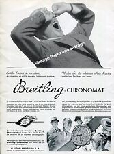 1942 Breitling Chronomat Watch Advert Montbrillant G  Leon Breitling SA Swiss Ad