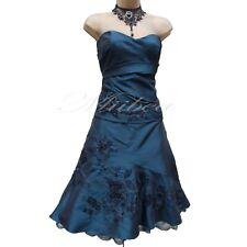 UK 8 -12 Exquisite Karen Millen 50's Beaded Teal Green Corset Top & Skirt Dress