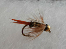 One Dozen (12) Bead Head Prince Nymph Size 16 Fishing Flies from USA