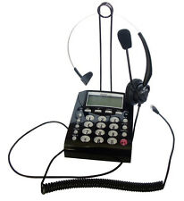 NEW CallTel CT800 Feature Corded Telephone keypad w/ Over-The-Head T400 Headset