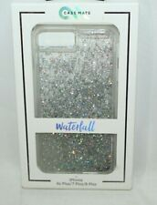NEW Authentic CaseMate Waterfall Liquid Silver Glitter Case iPhone 6S 7 8 Plus