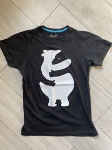 "Mens Black Threadless Bear ""Huggers"" Tshirt Small"