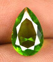 Italian Green Vesuvianite Loose Gemstone Natural Pear 2.30 Ct Certified Q1829