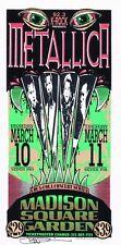 MINT & SIGNED Metallica 1997 Madison Square Garden NYC Arminski Handbill