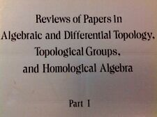 2 VOL SET Reviews of Papers in Algebraic and Differential Topology 1968 STEENROD