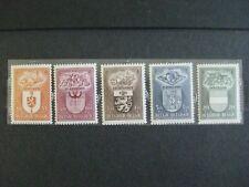 timbres belges : Armoiries et industries 1947 COB N° 756, 757, 758, 759, 760 **