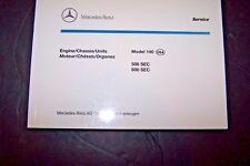 Mercedes 500sec 600sec Owners Parts Manual Service w140 new original no part #