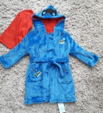 670115a718 MOTHERCARE BOYS SUPERHEROES DRESSING GOWN AGE 2-4 YEARS NEW SOFT WARM HOODED