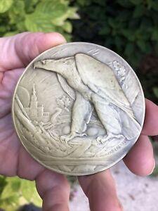 "1926 Philadelphia US Sesquicentennial Exposition Award Bronze Medal 3"" Art Deco"