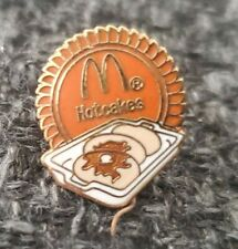 Papillon Productions 1987 McDonald's Gold Enameled Lapel Pin - Hotcakes