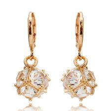 Fashion Women 18K Yellow Gold Filled Peridot Ear Stud Earrings Wedding Jewelry