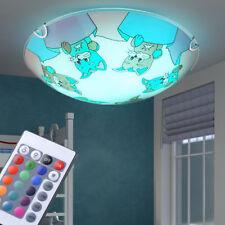 Verre LED salon pour enfants plafonnier modulable chat motif RGB télécommande