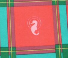 "Waterford Crystal Logo Material Fabric Christmas Plaid 6 Yards x 62"" Unfinished"