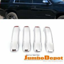 Chrome Side Door Handle Cover Trim LTZ Style Fit for Chevy Tahoe Yukon 2015-2018