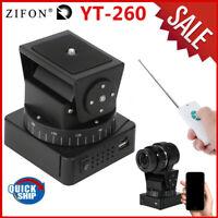 Zifon YT-260 Remote Control Motorized Tripod Pan Tilt Head for Camera Smartphone