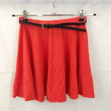 New Look Size 8 Coral Skater Mini Skirt With Belt New