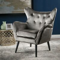 Ashton Mid Century New Velvet Armchair