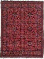 """Hand-knotted Carpet 5'0"""" x 6'6"""" Traditional Vintage Wool Rug"""