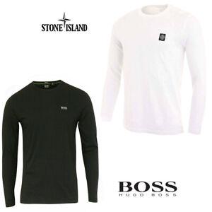 Men's Hugo Boss Long Sleeve Crew Neck Custom Fit T-Shirt New