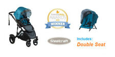 Double 3 Wheels Prams & Strollers with Lockable Swivel Wheels