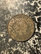 1941 Tunisia 1 Franc Lot#Q2859