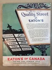 Eaton's Catalogue 1954 Moncton Canada Spring Summer Colour Graphic Design