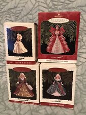 Hallmark ornaments Holiday Barbie set of 4 1994-1997 nrfb
