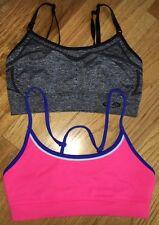 Champion C9 Womens Sports Athletic Bra Black Gray Adjustable Straps Size XS