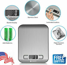 Kitchen Scale Electronic Food Weighing Scale Digital Measuring Gram w/2 Battery