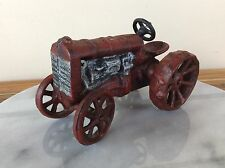 Vintage Red Cast Iron Tractor