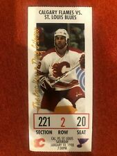 Calgary Flames Ticket Stub Doug Gilmour Front Jan 10 1998 Blues Row2 Seat 20