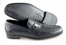 R - Men's SALVATORE FERRAGAMO 'Tazio' Leather Loafers Size 10 - D (Black)
