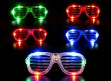 LED Atzenbrille Shutter Shades NEU + OVP Partybrille Karneval 5 Farben wählbar