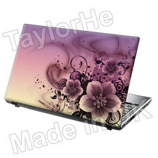 "17"" Laptop Skin Cover Sticker Pink/purple Flowers 79"