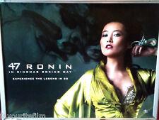 Cinema Poster: 47 RONIN 2013 (Mika Quad) Keanu Reeves Kô Shibasaki Min Tanaka