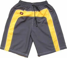 Mens Board Swim Sports Shorts Retro Surf Swimming Skate Trunks Grey Retro Long