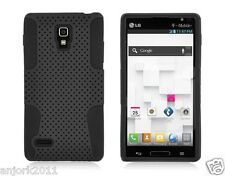 LG Optimus L9 P769 T-Mobile Mesh Hybrid Case Skin Cover Black