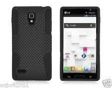 LG Optimus L9 P769 T-Mobile Mesh Hybrid Case Skin Cover Black