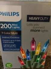 Philips 200 Count Heavy Duty Christmas Multi Color Mini String Lights Party