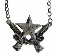 Rock Rebel Punk gothic goth celtic tattoo tribal guns star pendant necklace new
